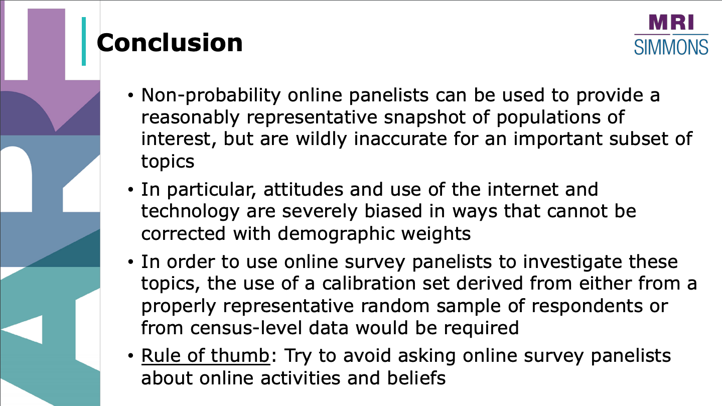 Calibrating bias in online samples conclusion